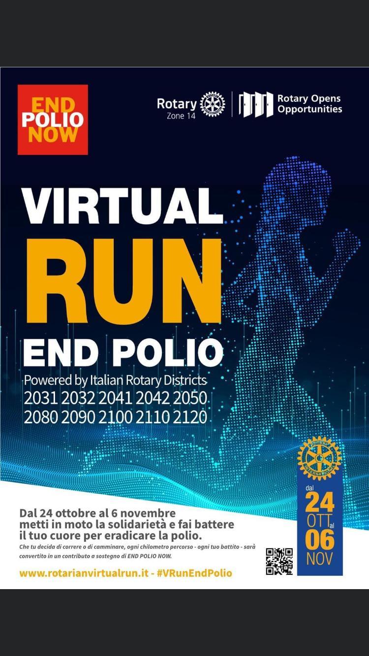 Trapani, il Rotary Club invita alla corsa virtuale contro la Polio nel mondo
