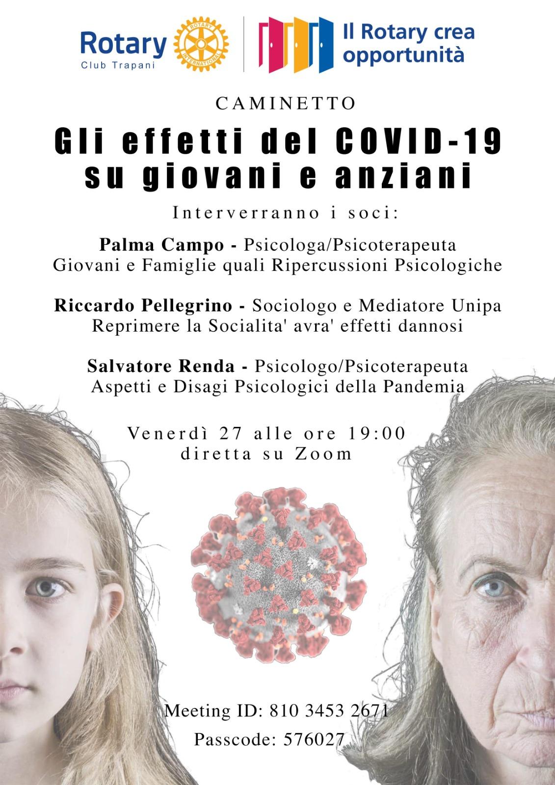 """Caminetto – """"Gli effetti del COVID-19 su giovani e anziani"""""""