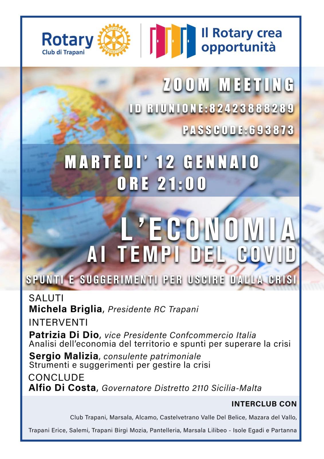 """Zoom Meeting – """"L'economia ai tempi del covid"""""""