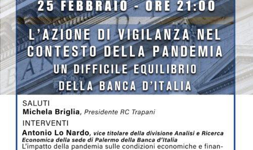 """Zoom Meeting – """"L'azione di vigilanza nel contesto della pandemia – Un difficile equilibrio della Banca D'Italia"""""""