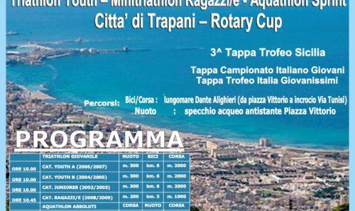 Triathlon Youth – Minitriathlon Ragazzi/e – Acquathlon Sprint Città di Trapani – Rotary Cup